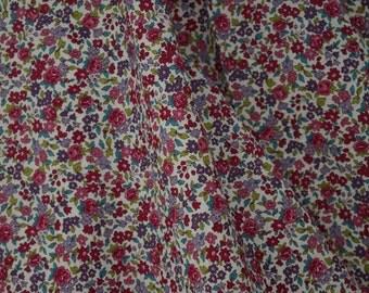 Raspberry Fleuri Cotton Voile by Frou Frou, Paris