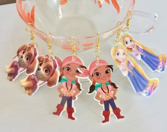 Rapunzel, and pirate Earrings