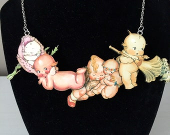Busy Kewpie Doll Necklace