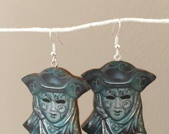 Highwayman Mask Earrings