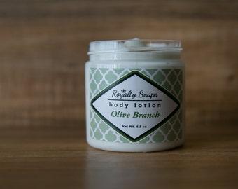 Olive Branch Body Lotion | 4.5 oz | Avocado, Jojoba, and Shea Lotion | Royalty Soaps