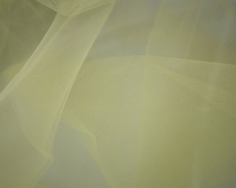 "Yellow Tulle Fabric 56"" Wide Per Yard"