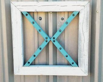 one medium reclaimed framed wood arrow barn wood home decor farmhouse - Medium Wood Home Decorating