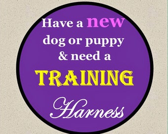Training Dog Harness - Training No Pull Dog Harness - Available in all Dog Collar Listings - Fabric na