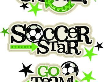 Soccer Die cuts, Scrapbook, Scrapbooking, Scrapbook die cuts, Die cuts, Scrapbook embellishments, scrapbook die cuts, Scrapbook supplies