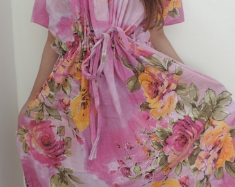 Floral Kaftan , Caftan, Perfect long dress, Spa Robe, For to be Moms, beach cover up, Sleepwear, Best Gift for her, Kaftan, Caftan dress