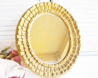 Vintage Gold Starburst Vanity Mirror/Decorative Mirror/Vanity Tray/Wall Mirror/Hollywood Glam Vanity Mirror/Gold Wedding/Home Decor