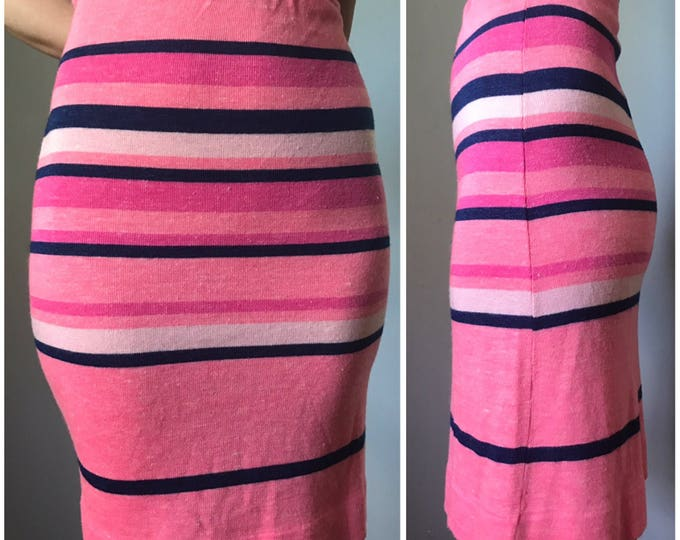 Vintage 70s Pink Sweater Skirt