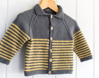 Knitting Pattern/DIY Instructions - Milton Baby Jacket