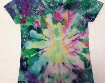 Funky Tie Dye Ladies Tshirt size Small S196