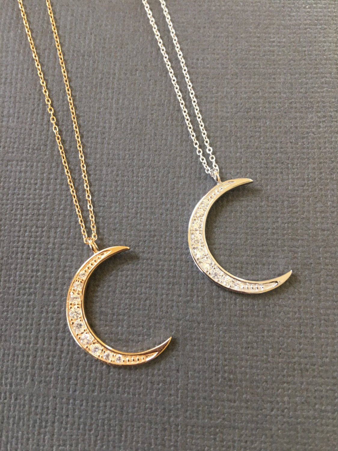 Crescent Moon Necklace Gold Moon Necklace Jewelry Dainty
