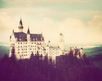 Castle photograph, Germany photography, fine art photo, travel print, Europe fairytale, dreamy, wall art - Neuschwanstein Castle