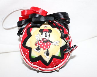 Minnie & Mickey Quilted Ornament