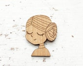 MOVIES : Princess Leia Brooch Pin