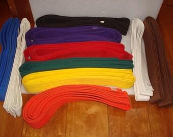 Vintage Lot Of Ten Sun Brand Karate Martial Arts Taekwondo Judo Jiu Jitsu Belts #5, #4, and #6