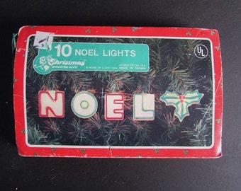 NOEL Christmas Lights Vintage Novelty Tree Lights