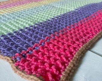 Baby Blanket - Blanket - Striped - Crochet Blanket - Nursery Decor - Nursery - Belinda