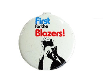 Vintage First For The Blazers! Portland Trail Blazers Collectable Tin Tab Button Pin