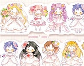1 Roll Limited Edition Irregular Washi Tape: Sailor moon in Wedding Dresses