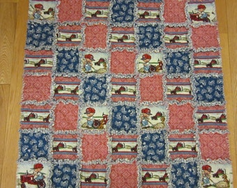 International Harvester Baby Rag Quilt Case Tractor Little Farmer