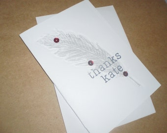 Handmade Personalised Thank You Card