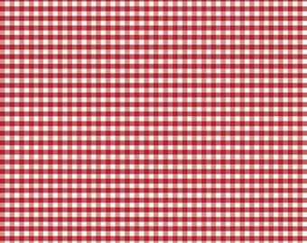 High Quality Riley Blake Designs Small Red Gingham. Perfect for Sewing, Quilting and Crafting!