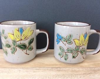 pair of coffee mugs / Mid Century
