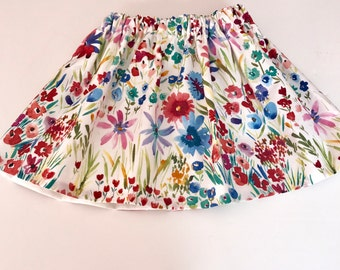 Watercolor Floral Baby Skirt...  Flower Skirt... Floral Toddler Skirt.... Shabby Circle Skirt