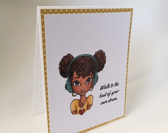 Walk to the Beat - Greeting Card