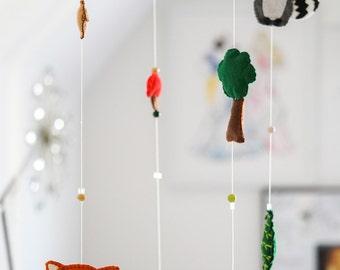 Woodland Animals Children's Nursery Mobile