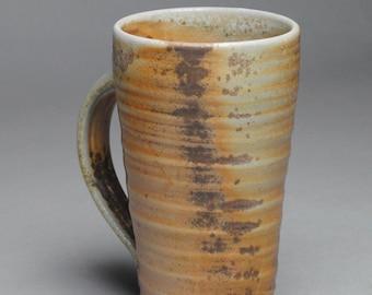 Clay Coffee Mug Beer Stein Wood Fired G48