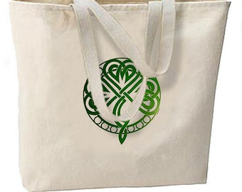 Irish Celtic Knot New Large Canvas Tote Bag Gifts Events St Patricks