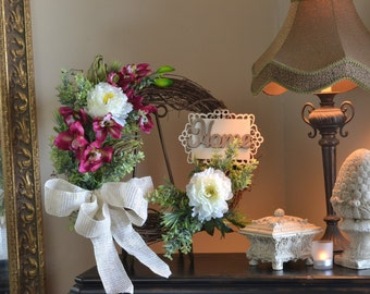 Floral Door Wreaths, Spring Wreath, Summer Wreaths, Orchid Wreaths, Peonies Wreaths, Floral Arrangement, Grapevine Wreath, Silk Flower