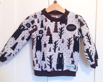 Bear Sweatshirt, Made to Order in ages 1-5 Years
