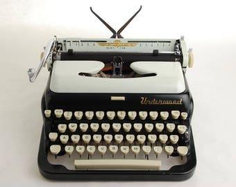 Underwood Typewriter De Luxe Quiet Tab, Tuxedo Model 1950s