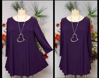 Dare2bstylish Slederizing Tunic, Swing Tunic, Babydoll Tunic, Plus size tunic for Travel and Much More. Large to 3XL