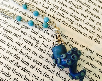 Blue Octopus Tentacle Necklace