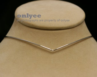 10PCS-1.3mm Bright Rhodium Plated Brass Wire Blank Collar choker Necklaces,Wire Chain (E370S)