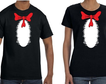 Cat in the Hat T-shirt top. 1 shirt. Professionally Screen Printed