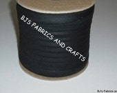 "EXTRA WIDE Bias Tape 1/2"" BLACK Bulk Quantity Wholesale Pricing ***50 Yards***"