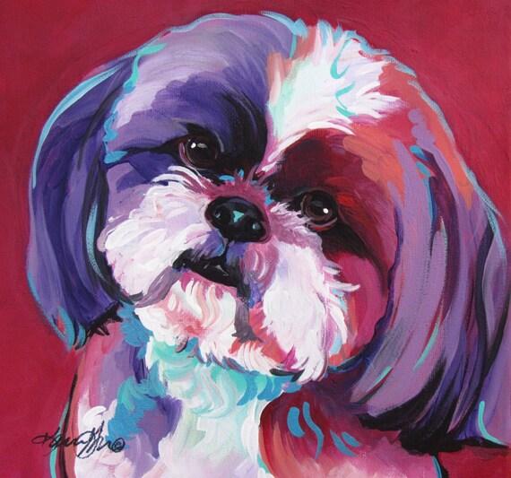 Shih Tzu Pop Art Dog Art Gifts Painting Portrait Dog