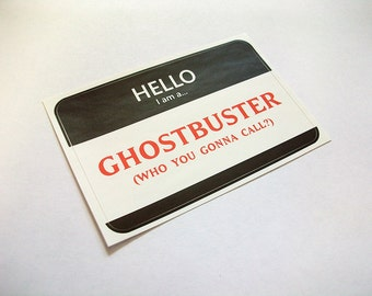 Ghostbuster Name Tag Sticker