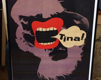 Eryk Lipinski 1908 - 1991 Tina! 1972 Signed and Dated in Block Poster