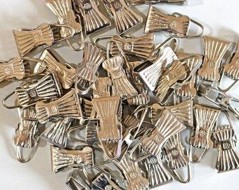 Set of 6 Metal Clips*Silver Metal Spring Clips*Scrapbook Clips*Banner Hangers