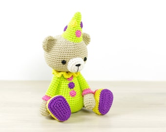 SALE -50% | Teddy bear in a clown costume - 4-way jointed