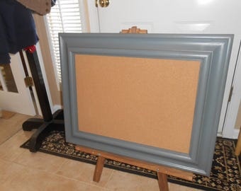 large grey cork board bulletin board 30 x 24 pin board gray frame corkboard framed message board wedding corkboard bulletin board