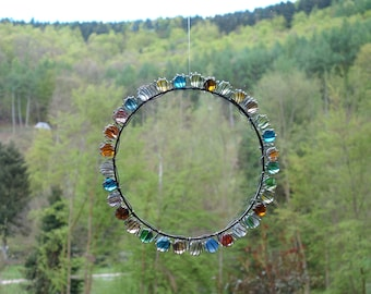 Sacred Circle of Love,  Harmony, colorful Suncatcher