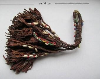 Old vintage leather ritual Kauri gunpowder gun powder gun Woodoo FES mussels of tribal medicine Africa Voodoo cult Marrakech magic ceremony