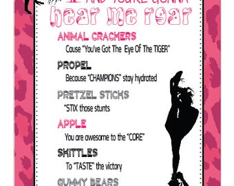 Cheerleading Survival Kits- Cheer Gifts- PDF file Instant Download Survival Kit