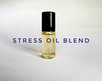 Stress Oil Blend, Stress Relief, Essential Oils for Stress, Anxiety oils, Peace and Calming Oils, essential oil blends
